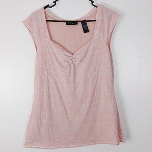 Axcess Liz Claiborne pink blouse size L